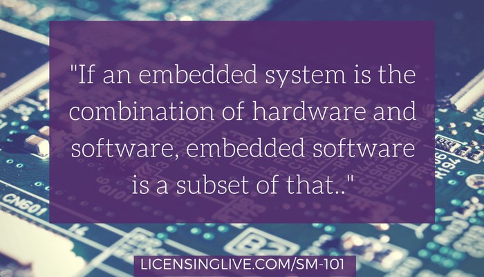 Embedded Software vs. Embedded System